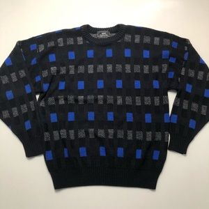 Vintage Sears The Men's Store Blue Knit Sweater